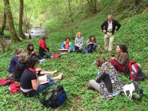 Unterricht im Bärlauchwald